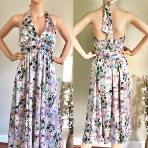 BCBGMaxaZria Halter Beautiful Dress